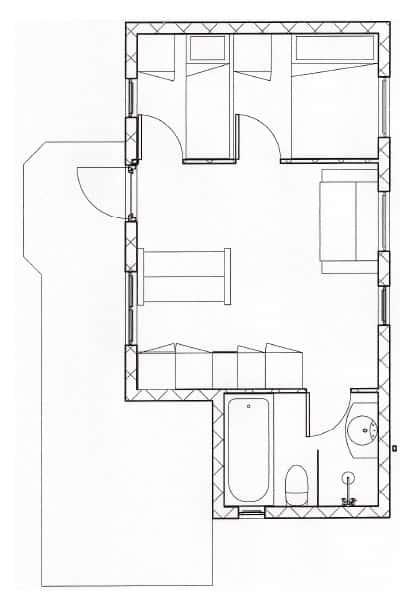hotel hytte plan
