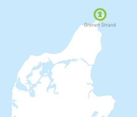 CampOne Grenen Strand ligger på toppen af Danmark